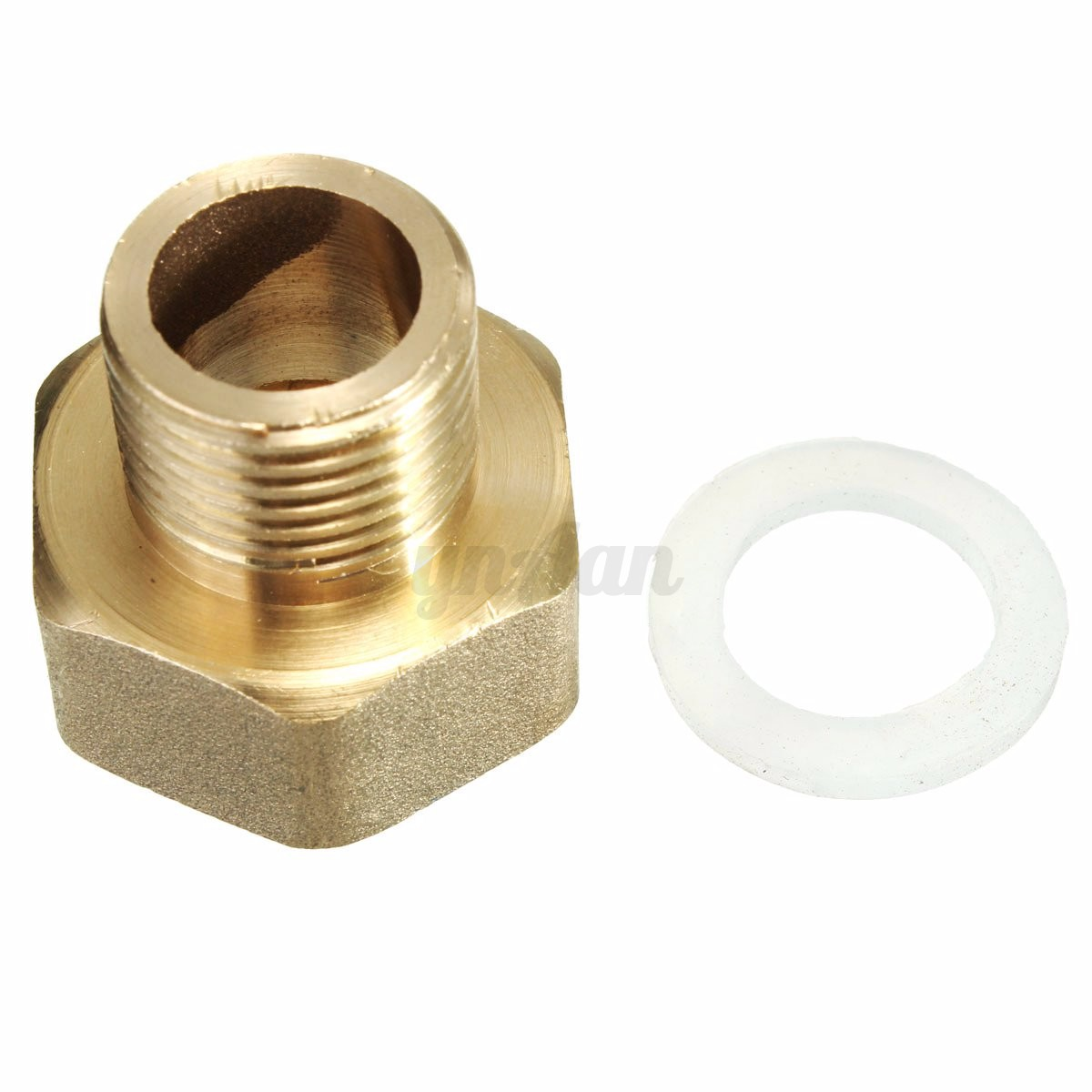 Water pipe hex bushing reducer adapter brass pt male to