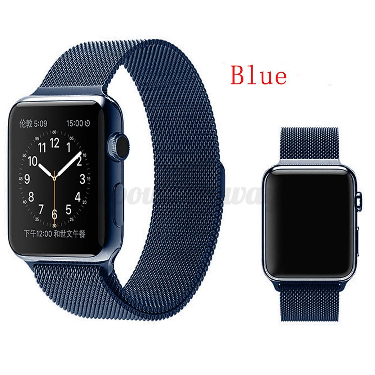 milanaise armband magnet edelstahl uhrenarmband f r apple. Black Bedroom Furniture Sets. Home Design Ideas
