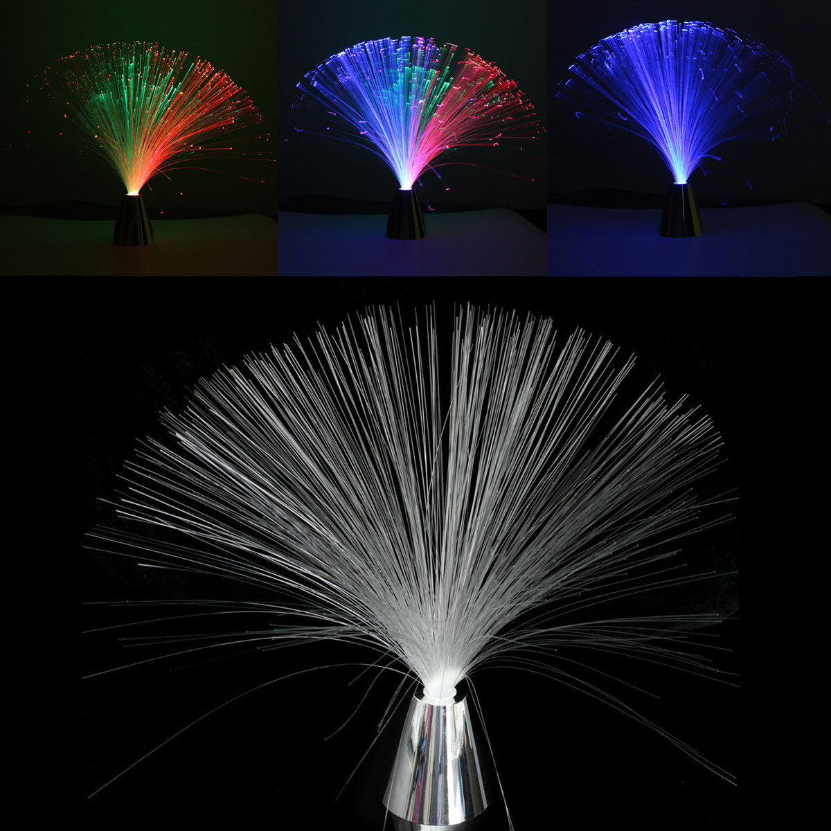 led multi colour changing fibre optic fountain night party light
