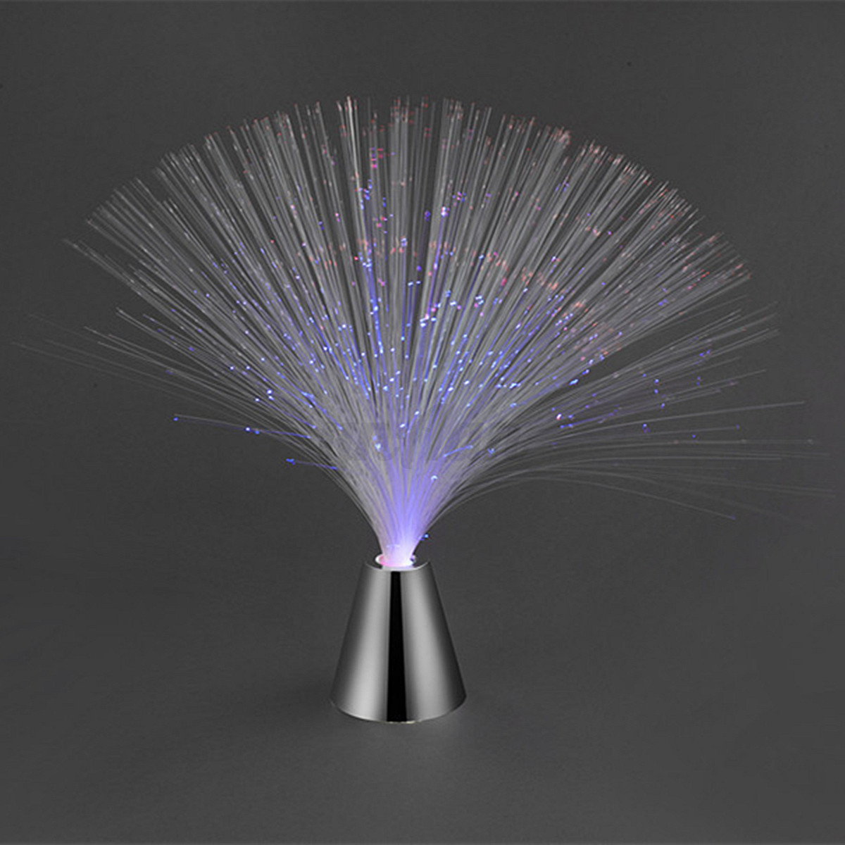 Led Multi Colour Changing Fibre Optic Fountain Night Party Light Lamp Home Decor