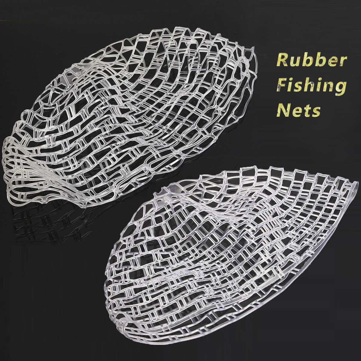 Clear rubber replacement net for fishing landing net for Rubber fishing nets