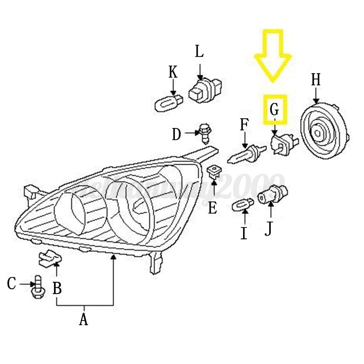 Top Of Engine Diagram For 94 Honda Accord as well 131758217200 also Honda Civic Del Sol Fuse Box Diagrams 374429 moreover 2006 Acura Tl Battery Goes Dead additionally 182155209129. on acura rl headlight bulb replacement