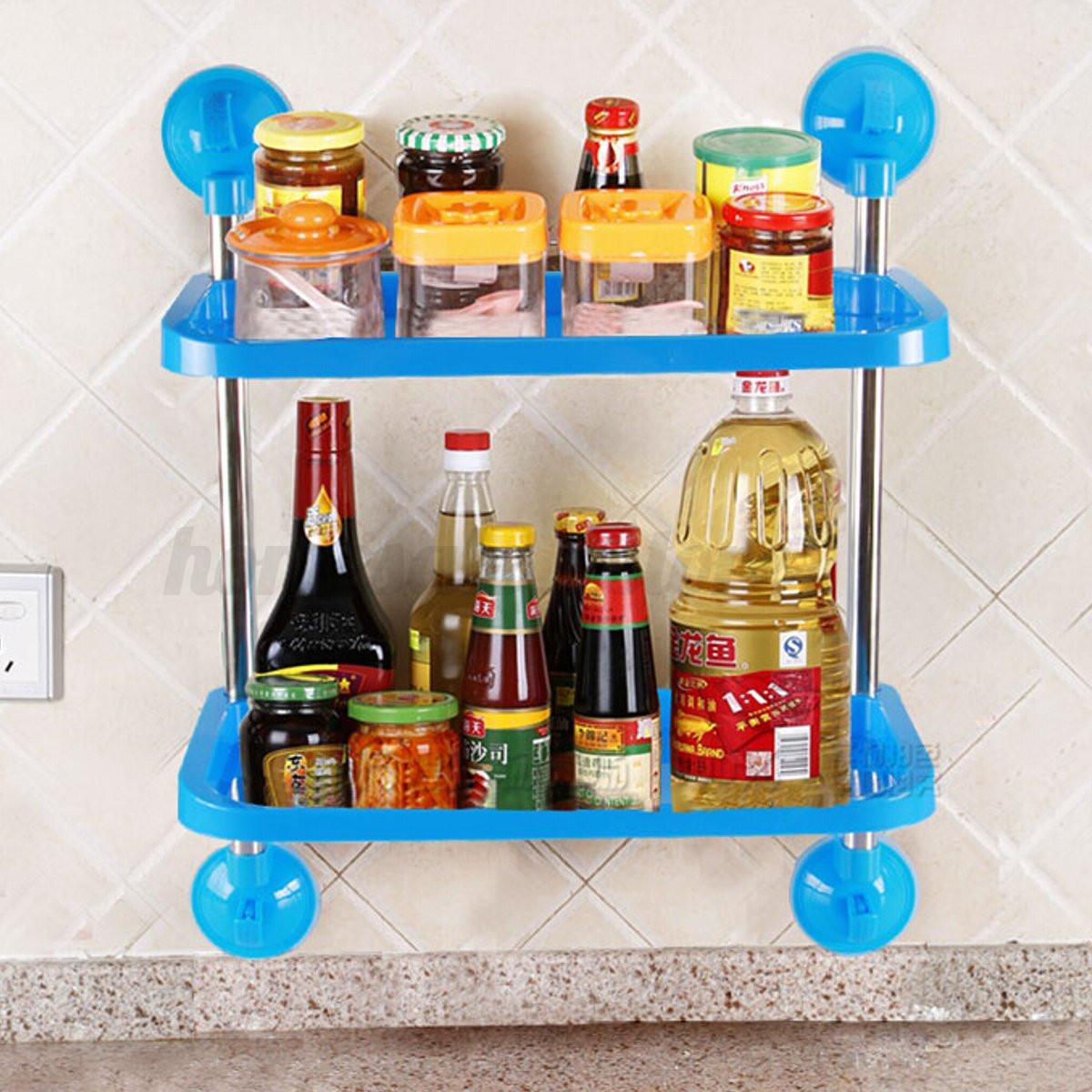 Ventosa Cocina Baño Shelf Estante Almacenamiento Estanteria eBay #0E7DBD 1200x1200
