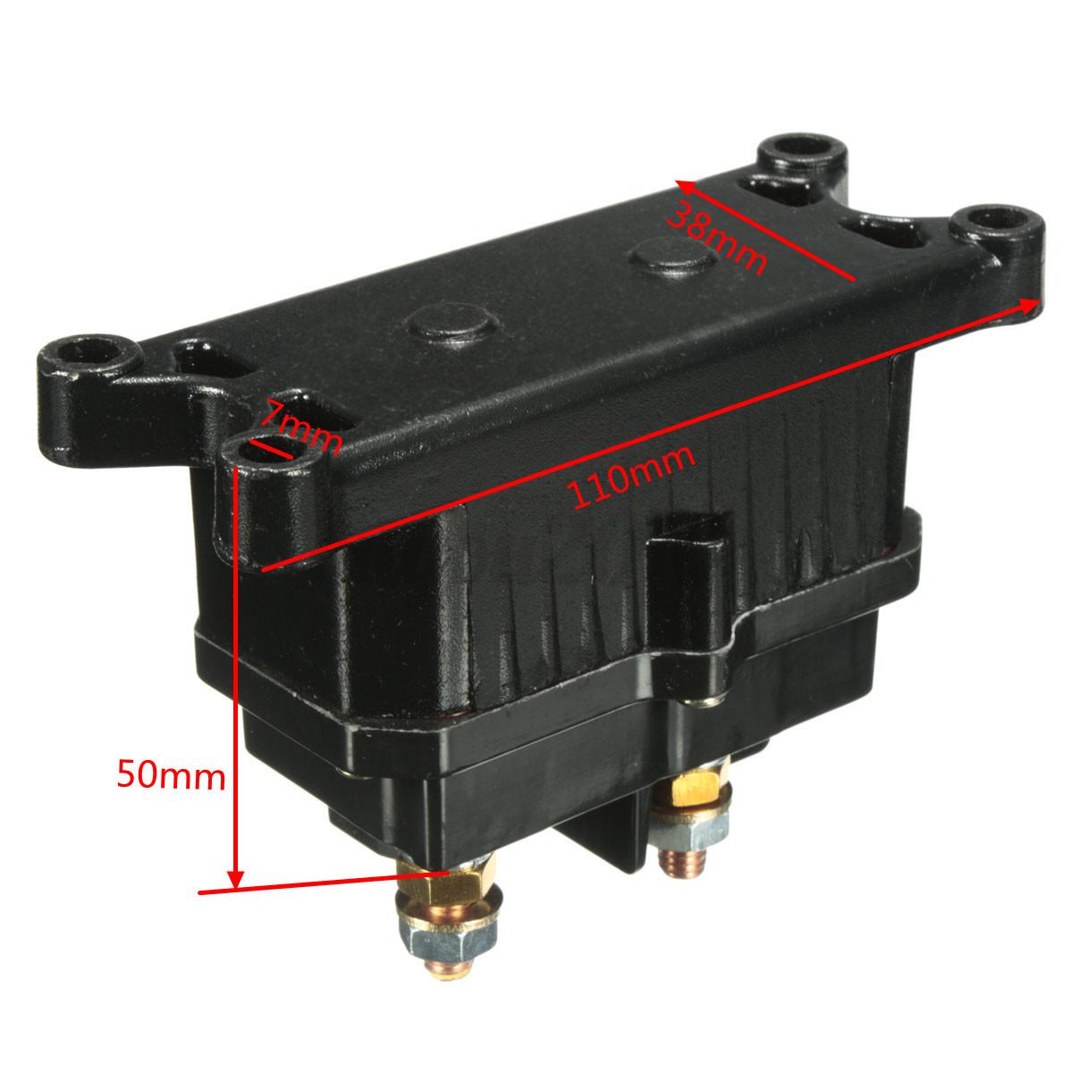 Universal 12v Solenoid Relay Contactor Winch Rocker Thumb