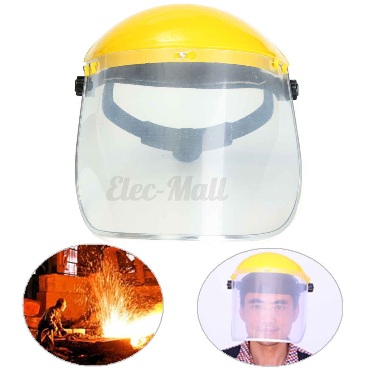 adjustable clear face mask shield visor safety workwear eye protection gardening ebay. Black Bedroom Furniture Sets. Home Design Ideas