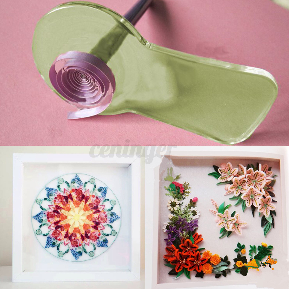 how to use quilling shape board