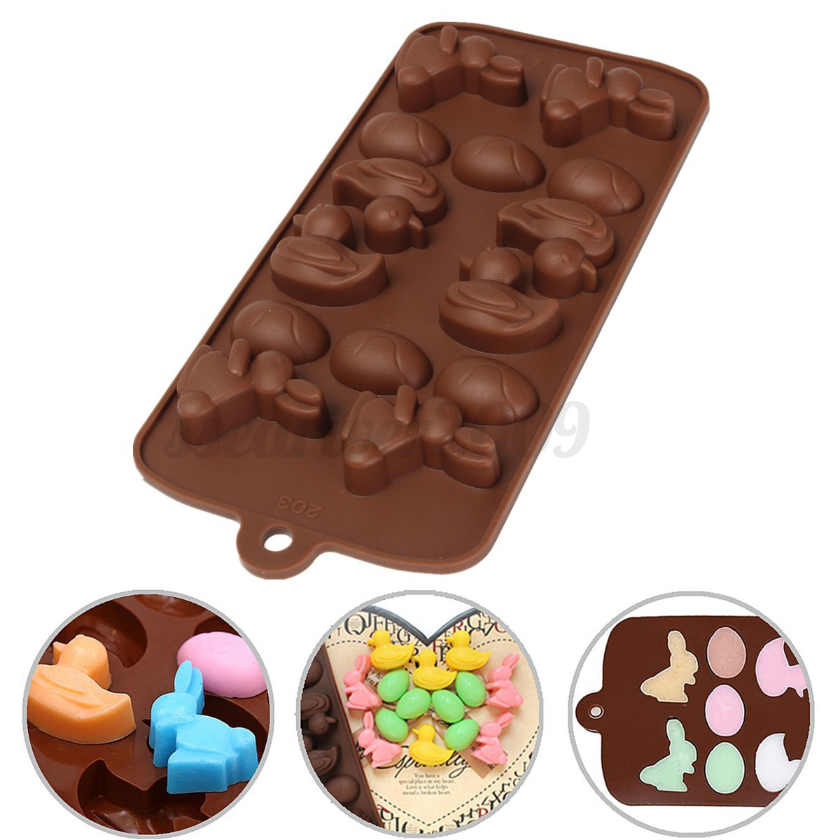42 Best Dck Chocolate Molds Images On Pinterest: Easter Egg Bunny Duck Themed Silicone Mould For Chocolate
