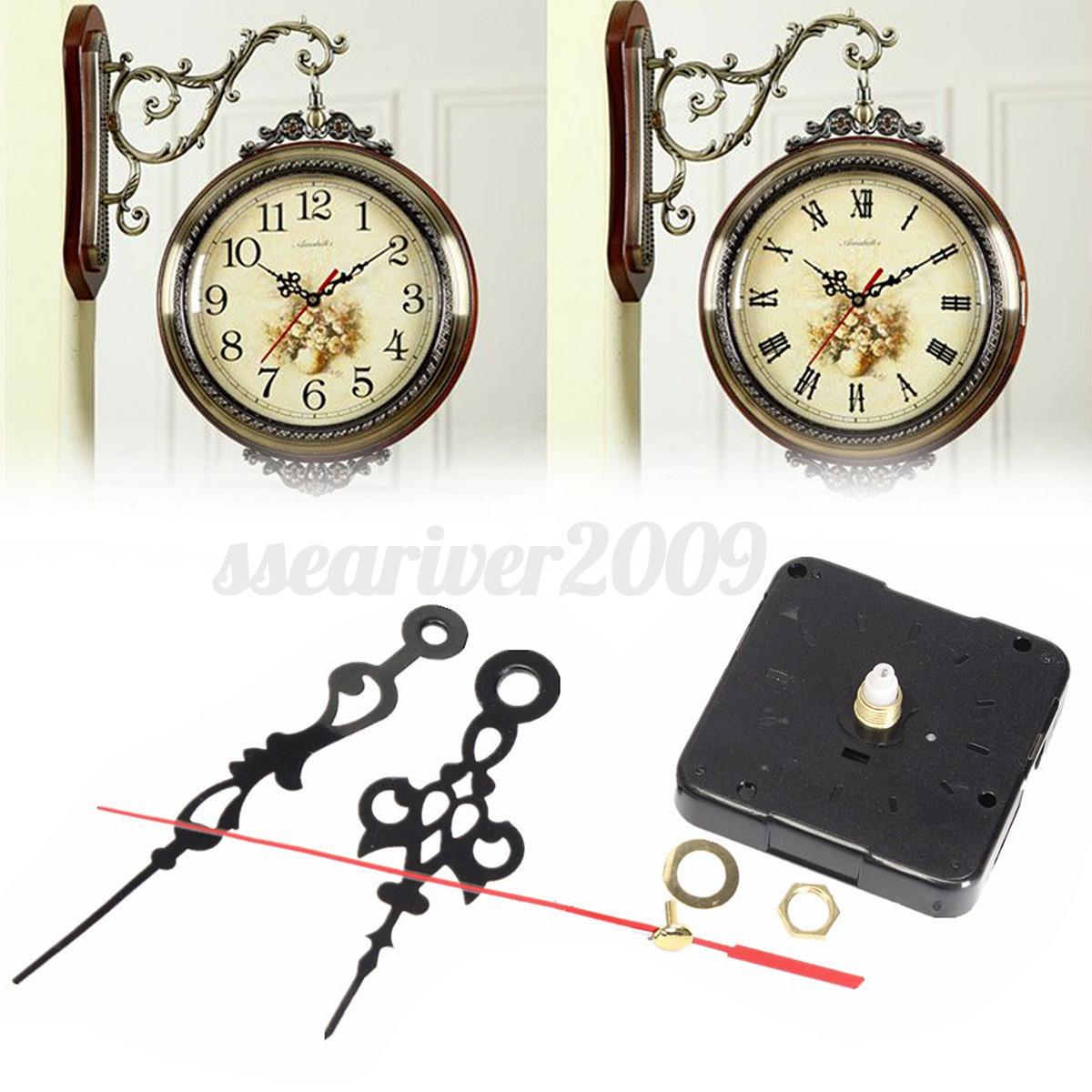 quartz clock movement mechanism module repair diy kit battery powered with hands ebay. Black Bedroom Furniture Sets. Home Design Ideas