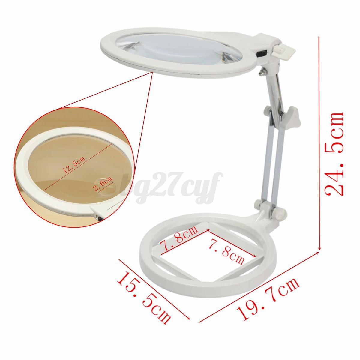 Desk magnifying craft lamp glass adjustable 2 6x magnifier for Craft light with magnifying glass