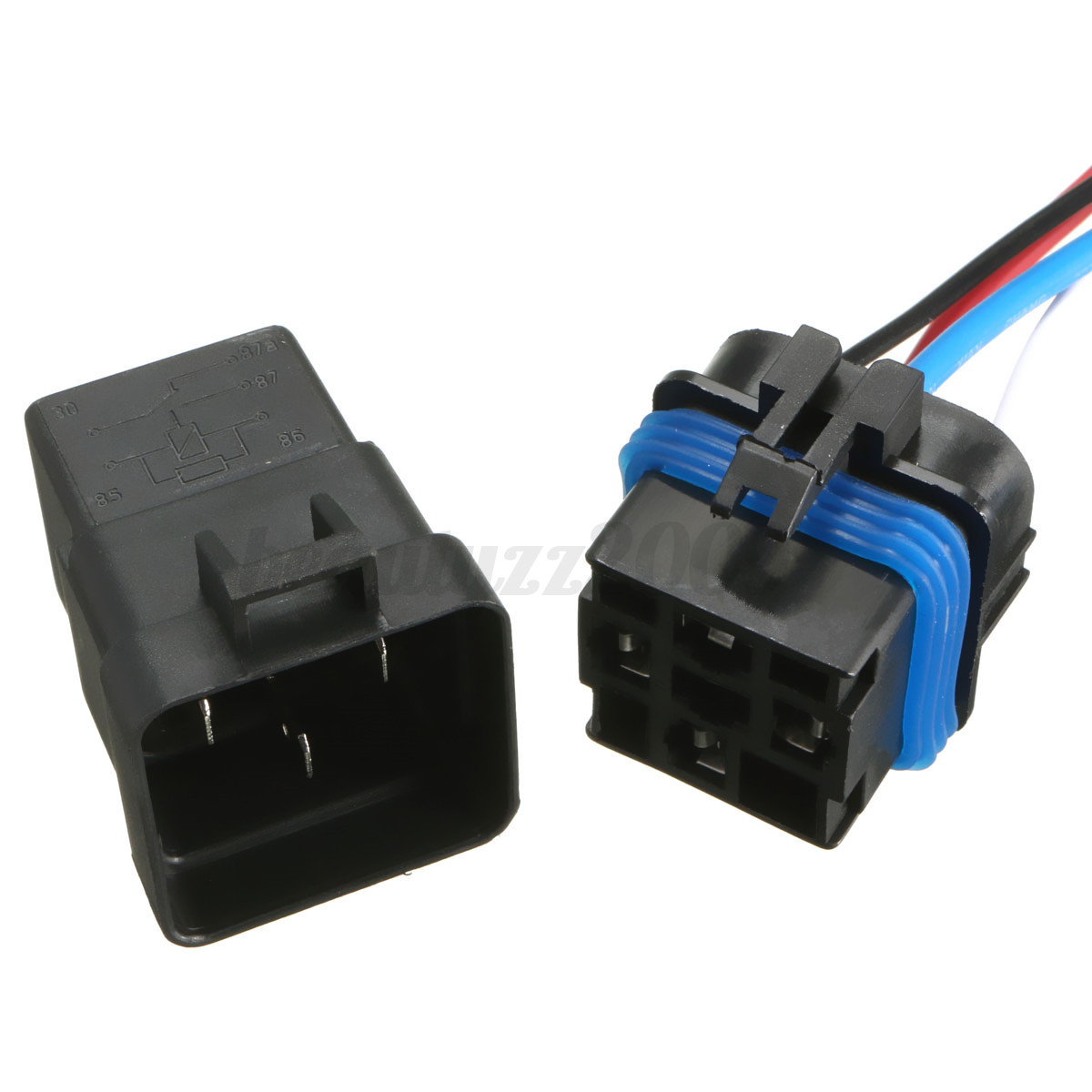Electronic bathroom faucet - 12v 40a 40 Amp 4pin Automotive Relay Socket Holder Waterproof Relay