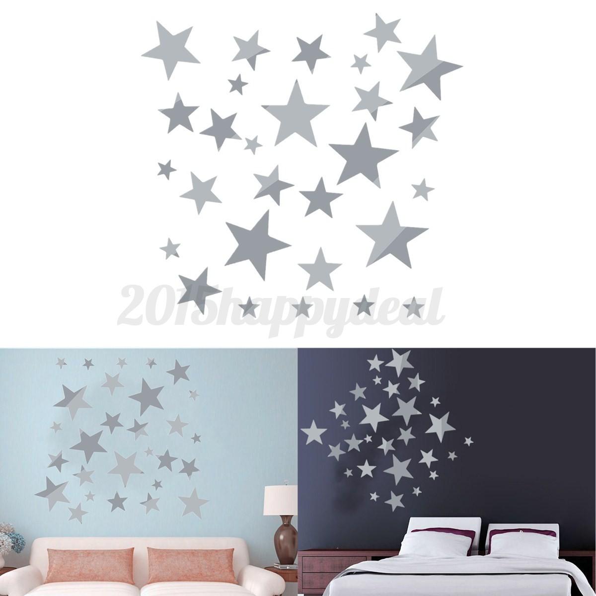 Star mirror wall decals