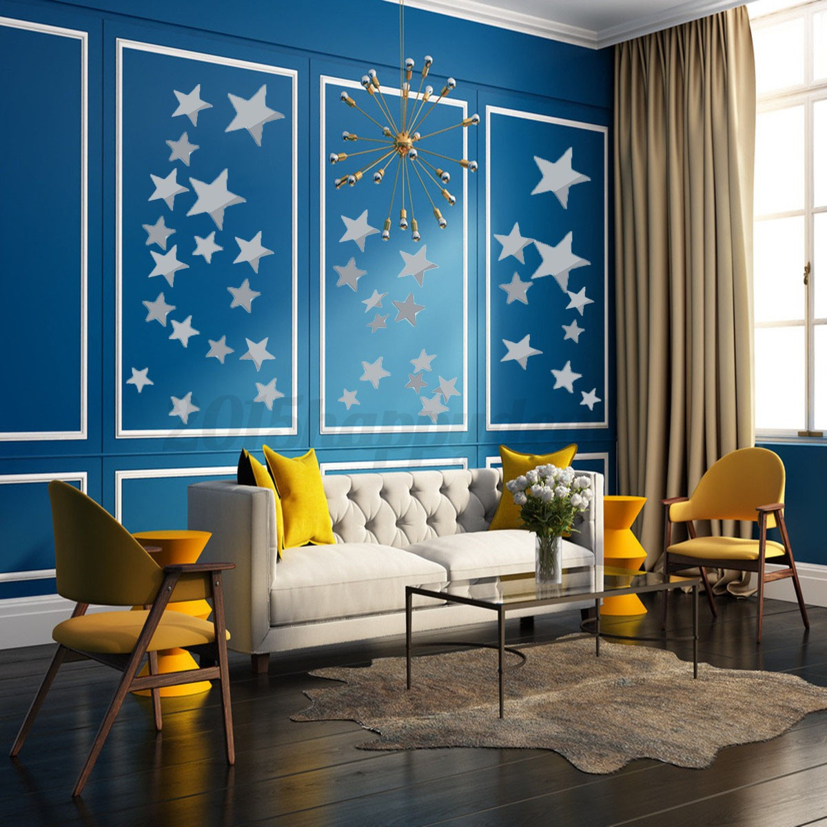 Mirrored Star Wall Decor: Fashion Star Mirror DIY Wall Ceiling Home Decal Mural