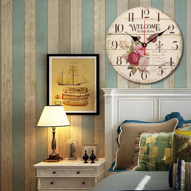 Wanduhr Buerouhr Antik Uhren Wohnzimmer Vintage Design