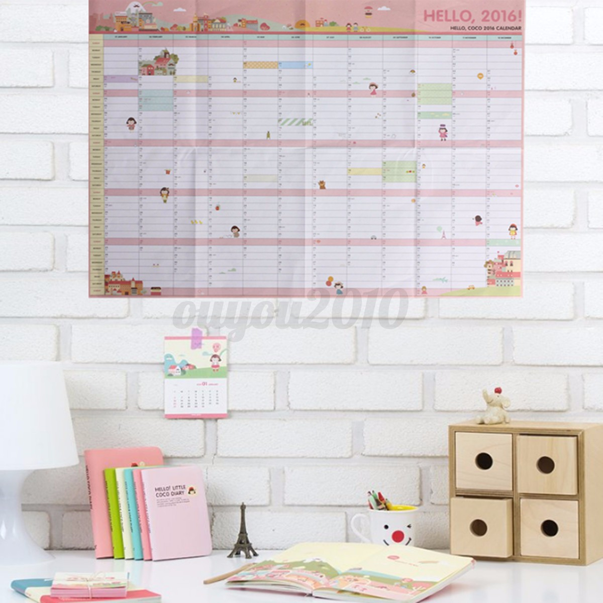 Calendar Home Planner : Year wall hanging calendar planner daily monthly