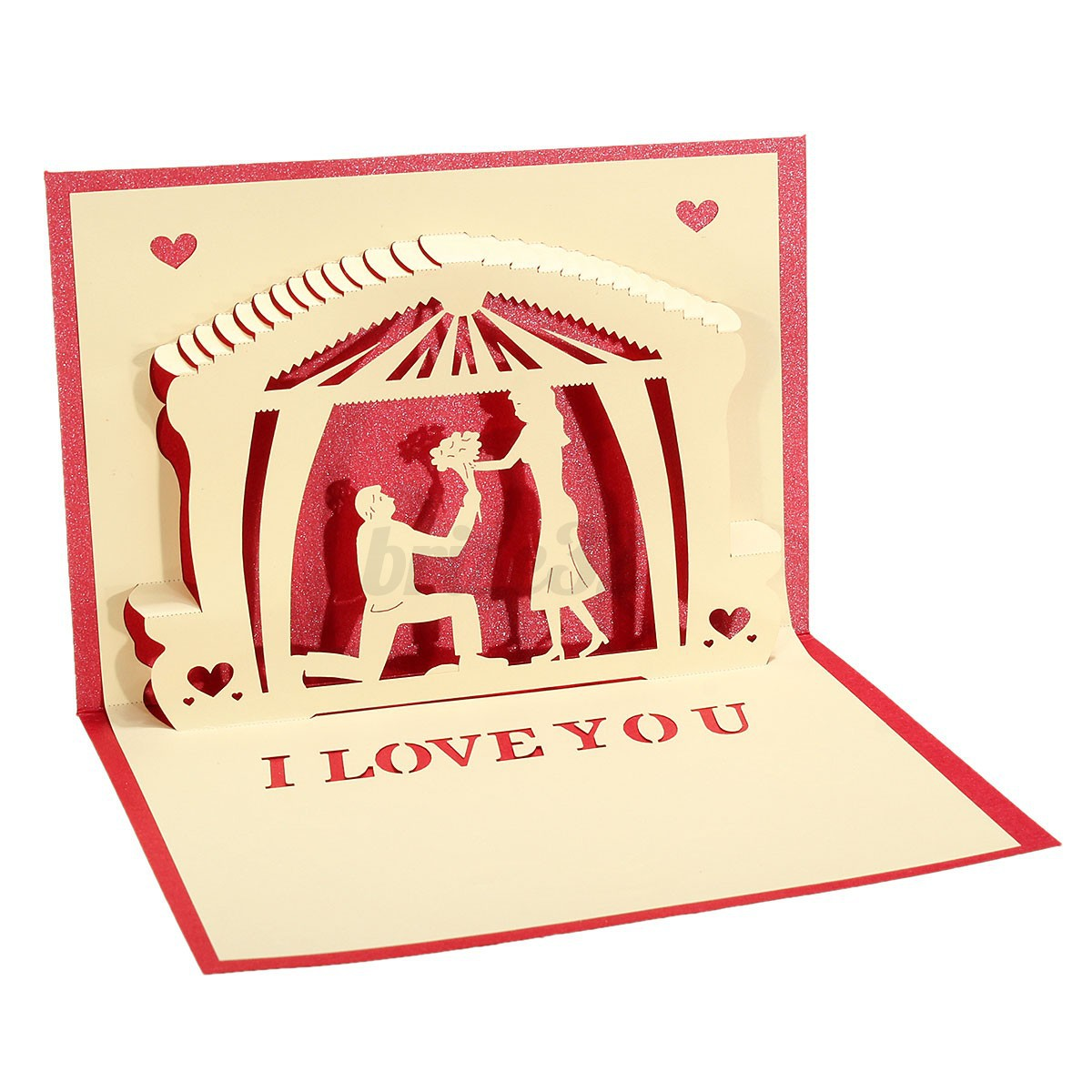 3D Pop Up Gift Birthday Wedding Aniversary Mother's Day Thank You Greeting Card