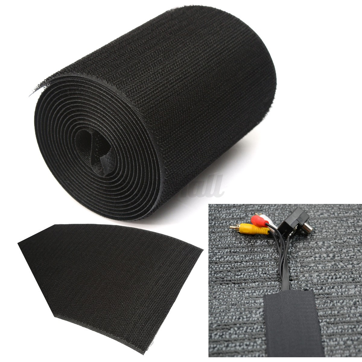 4 cable management organizer floor carpet nylon cover 2m wire sleeve protector ebay. Black Bedroom Furniture Sets. Home Design Ideas