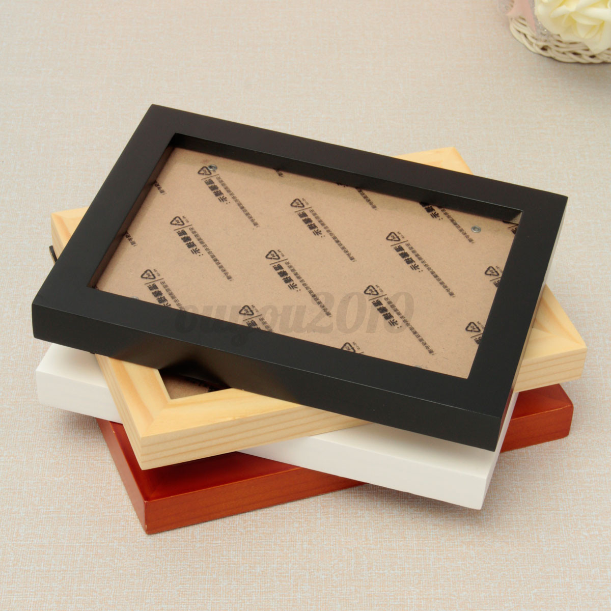 Wooden Box Wall Decor : Wood wooden photo picture poster frames box wall mounted