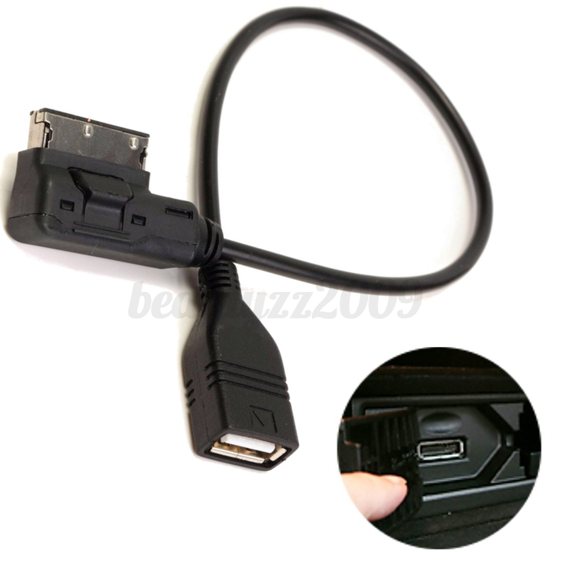 Aux media interface usb cable ami adapter flash drive mp3 for Aux cable mercedes benz c230