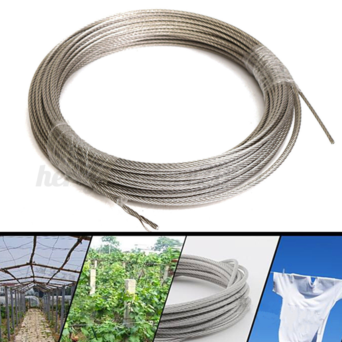 Ss Wire Rope : M grade stainless steel metal wire rope cable