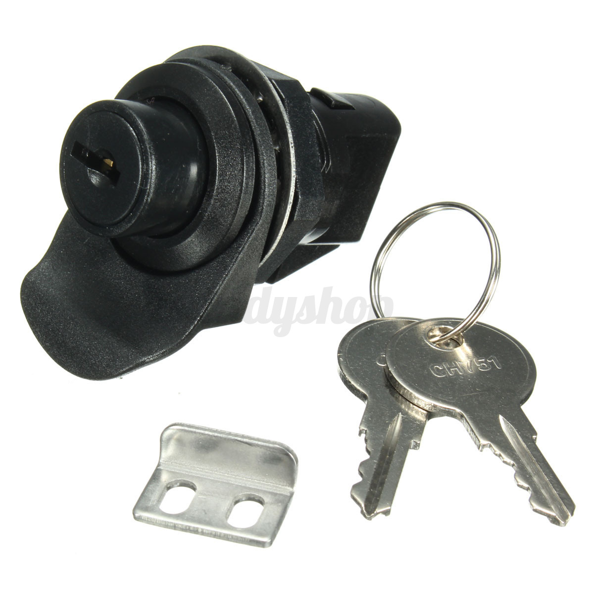 Push Button Latch With Key For Motorcycle Boat Door Glove Box Lock Locker