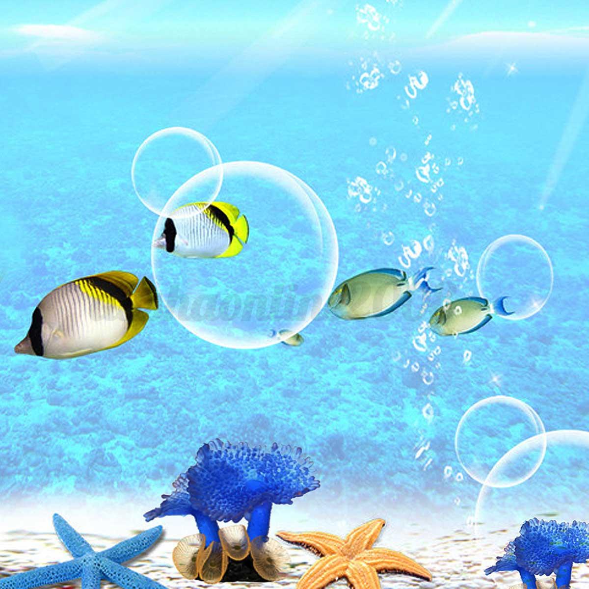 aquarium poisson d 233 cor ornement fishtank artificielle resin coral bleu paysage ebay