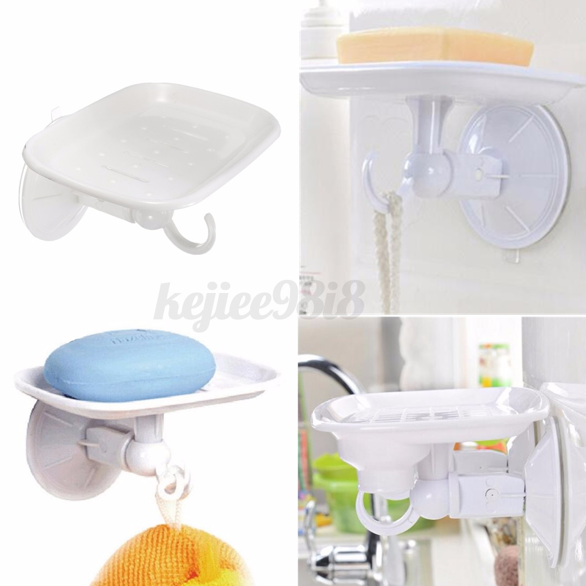Strong Suction Wall Mounted Bathroom Shower Square Soap