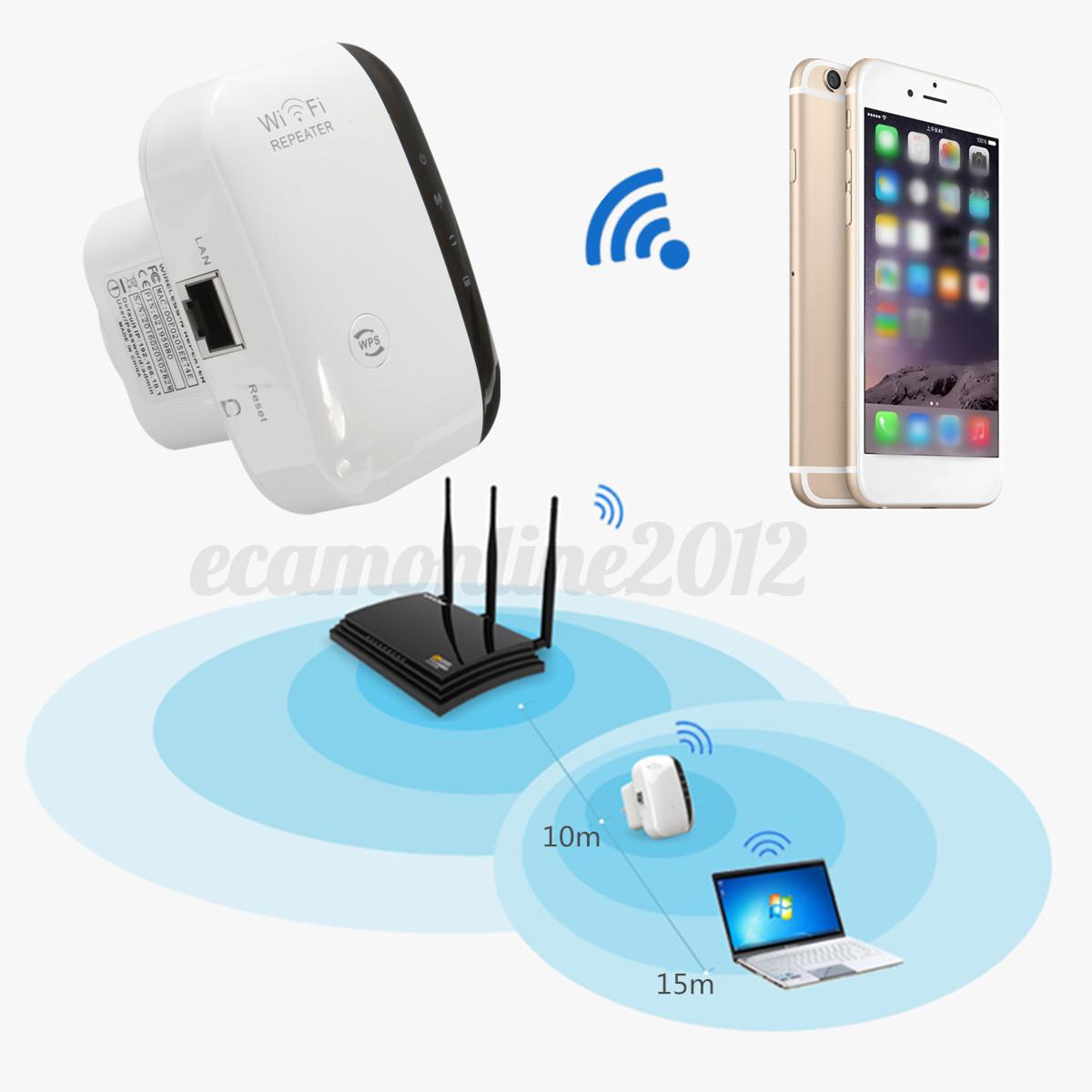 Mbps Universal Wireless Wps Wall Plug Wifi Range Extender Signal Booster Ebay