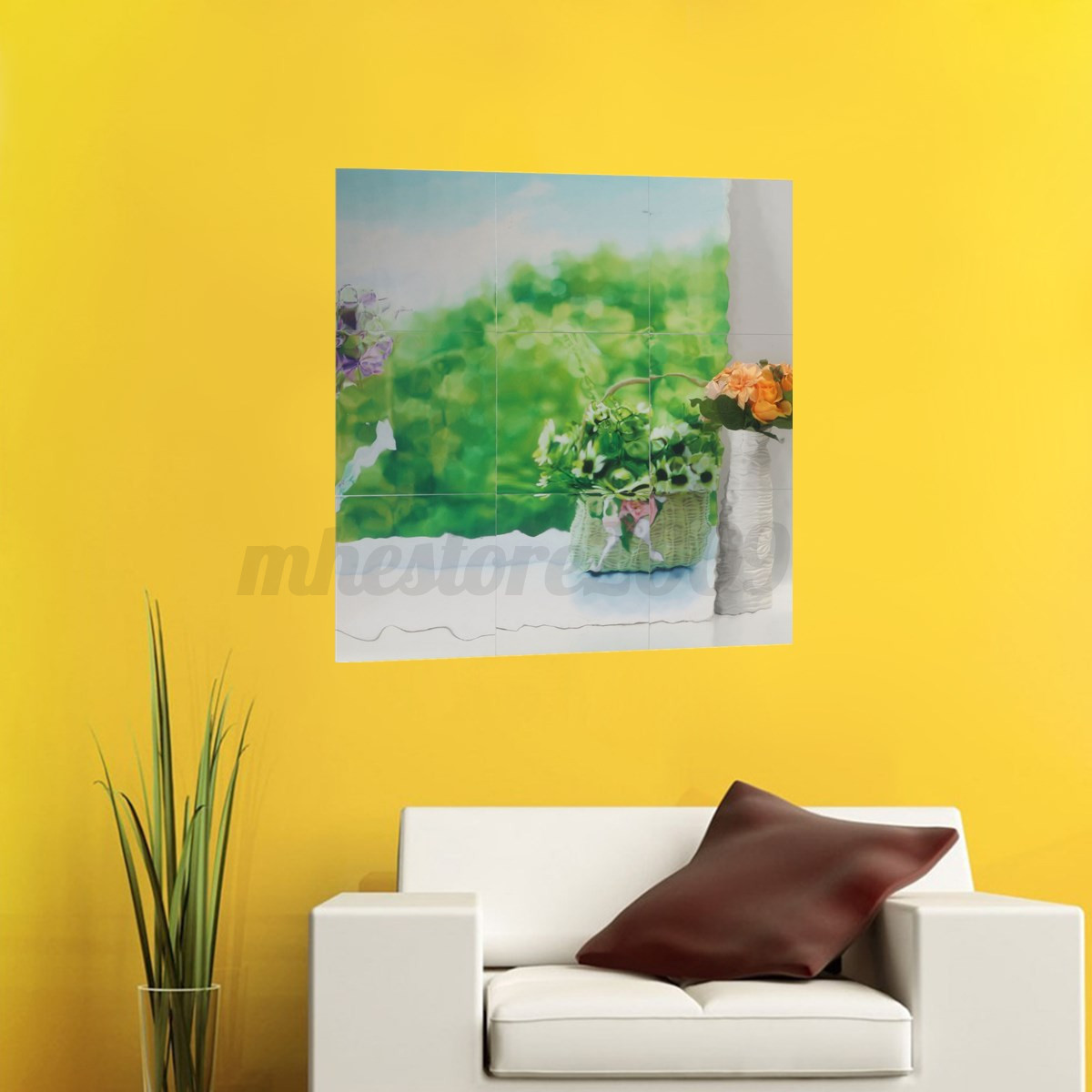 This can be achieved through self-adhesive wall murals. Try opening up to the possibilities provided by technology and experience a total lack of limits! Greenery - self-adhesive Pixerstick wall mural.