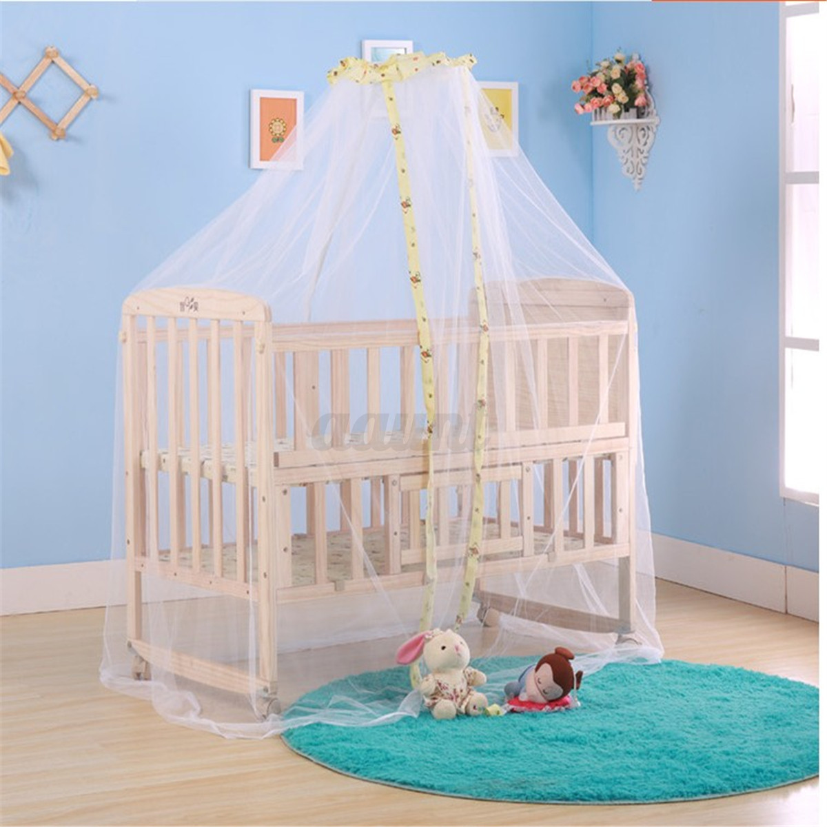 Baby summer dome mosquito net infant canopy toddler crib for Baby crib net