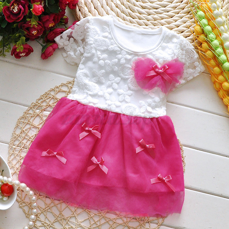 Toddler Kids Girls Baby Children Princess Party Lace Tutu Tulle Dresses Clothes