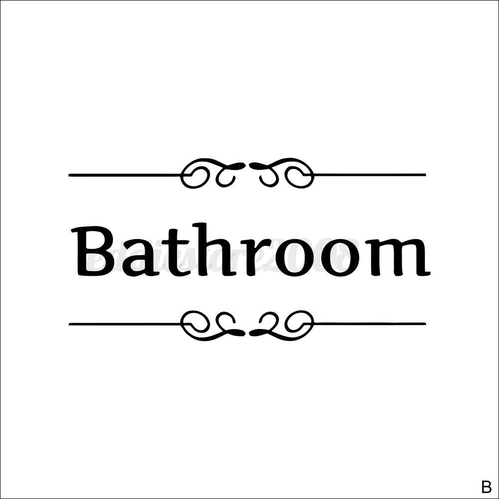 Bathroom toilet laundry room wall stickers art decal door for Bathroom quotes svg