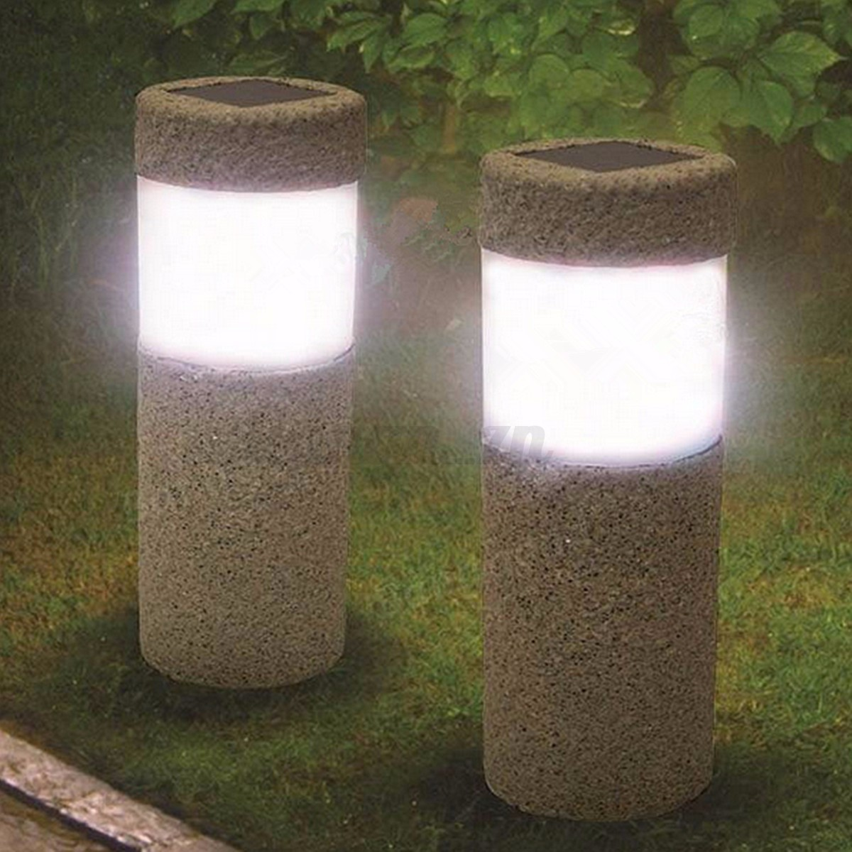 led lampe de jardin terrasse borne d 39 clairage d 39 ext rieur luminaire solaire ebay. Black Bedroom Furniture Sets. Home Design Ideas