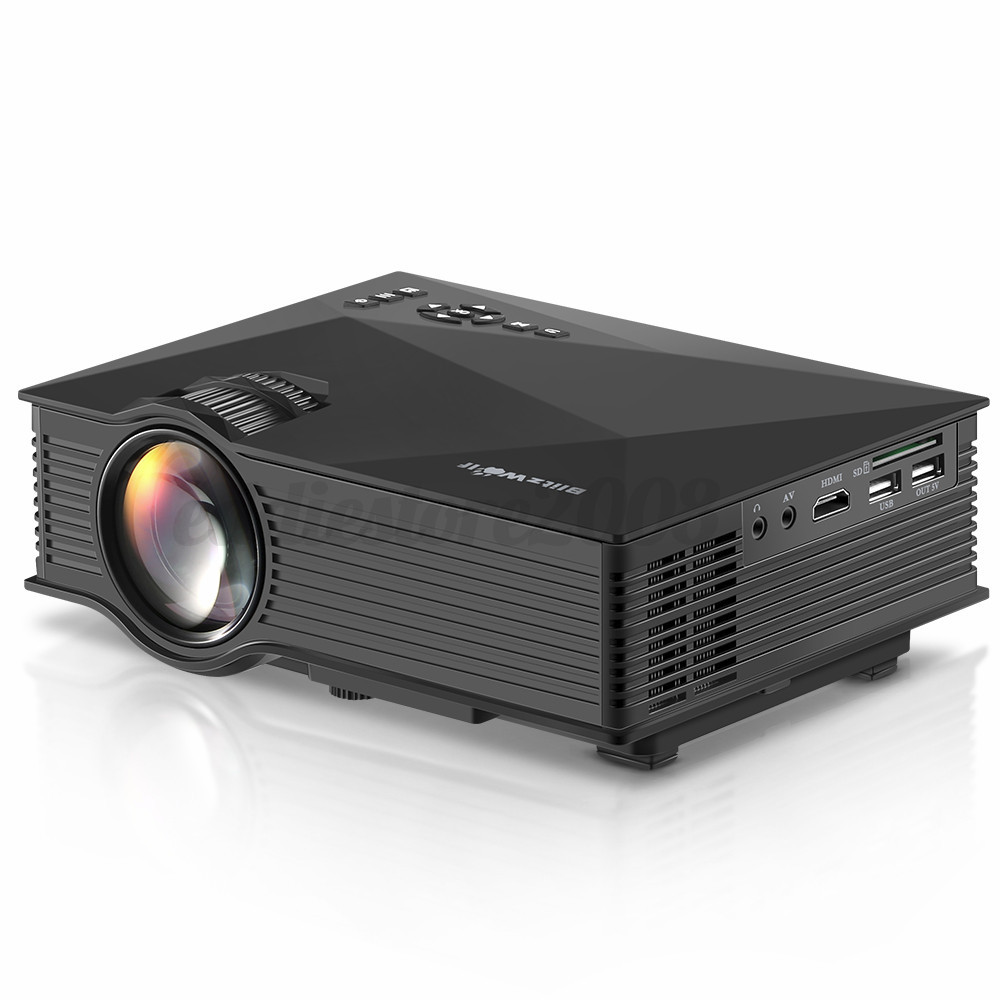 Blitzwolf bw mp1 portable wireless video led projector hd for Portable video projector