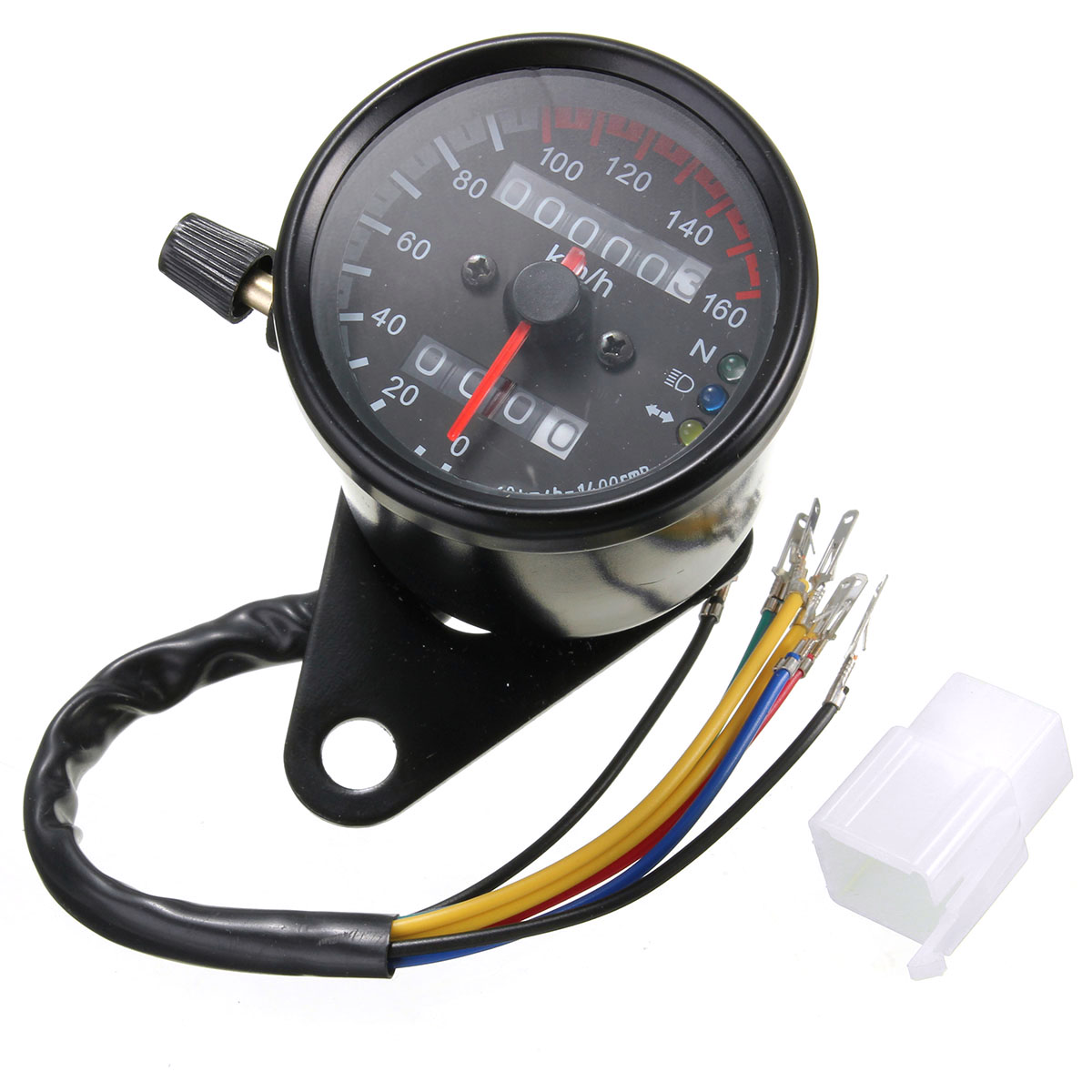 motorcycle dual odometer speedometer gauge led background light detail image