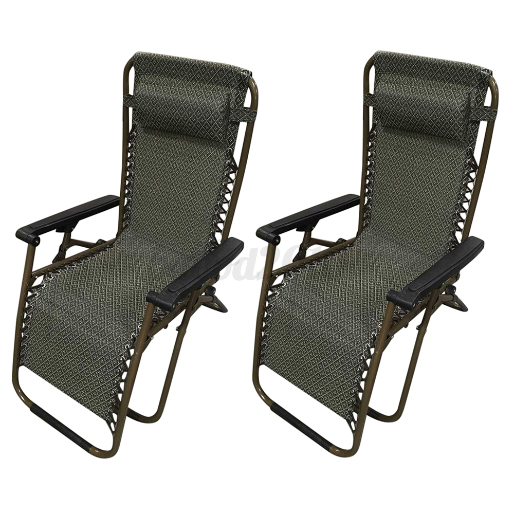 Single Folding Beach Garden Recliner Guest Bed Visitor Outdoor Camping Lounger