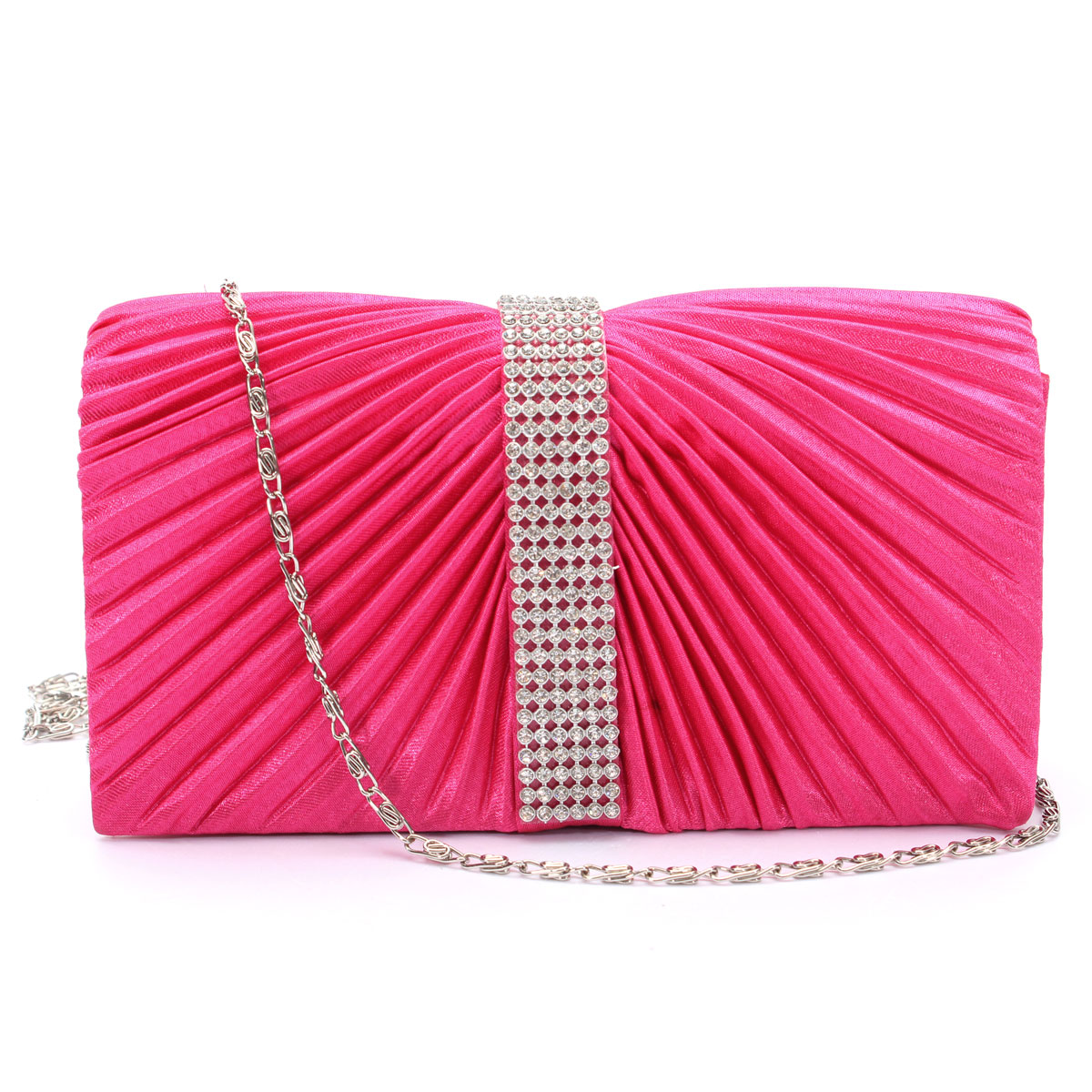 Women Lady Satin Cluth Purse Evening Party Prom Wedding Bridal Shoulder Bag HOT