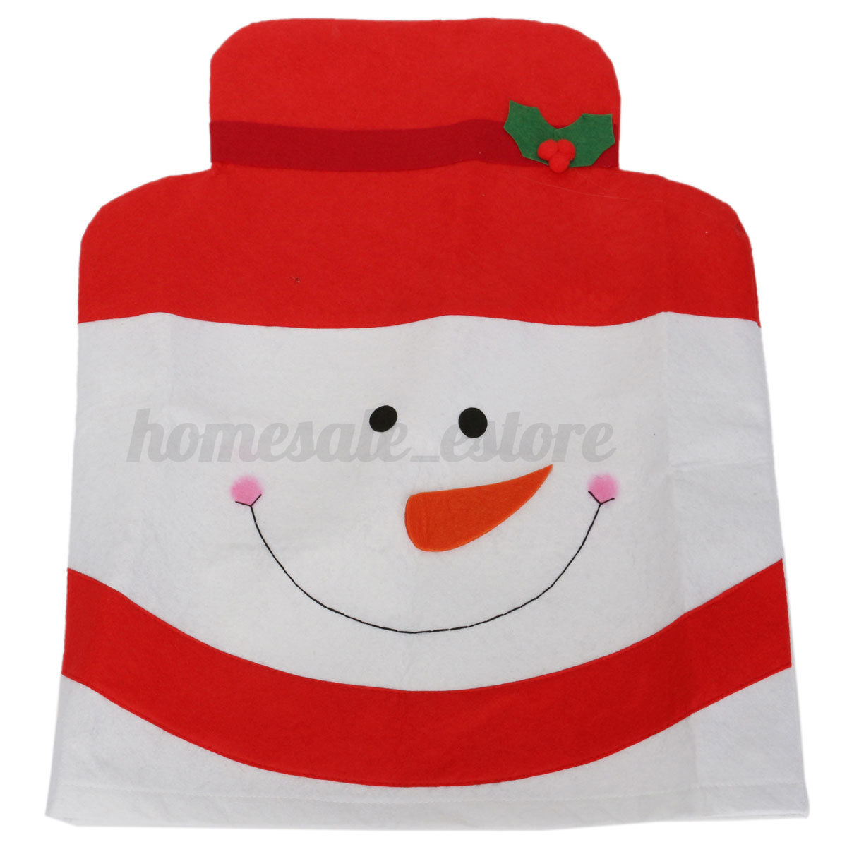 Mr mrs santa claus christmas hat chair back cover home