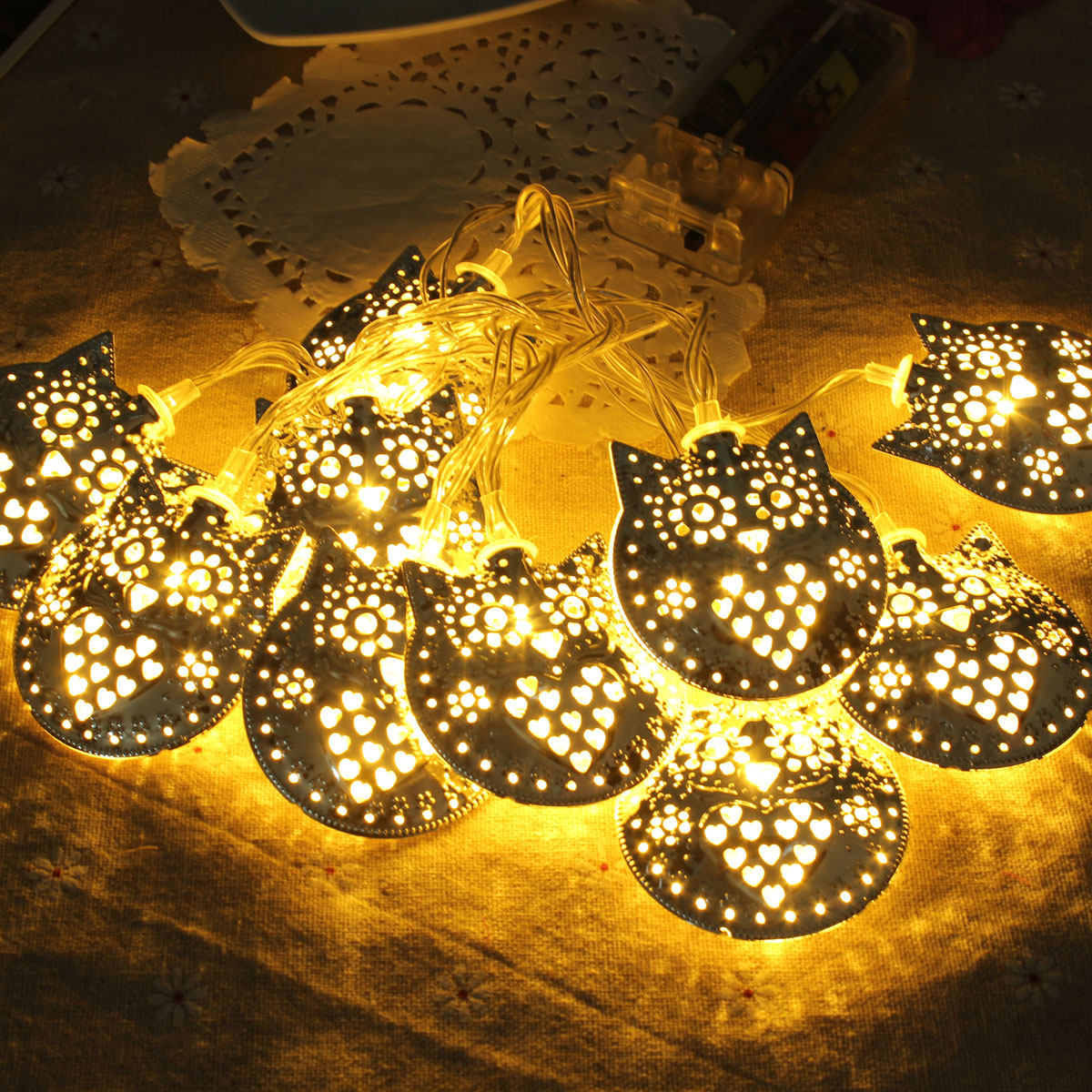 A String Of Holiday Lights Has 73 Light Bulbs In Series : 1.8m 10 LED Owl Party String Outdoor Garden Christmas Wedding Lights Lamps Decor eBay