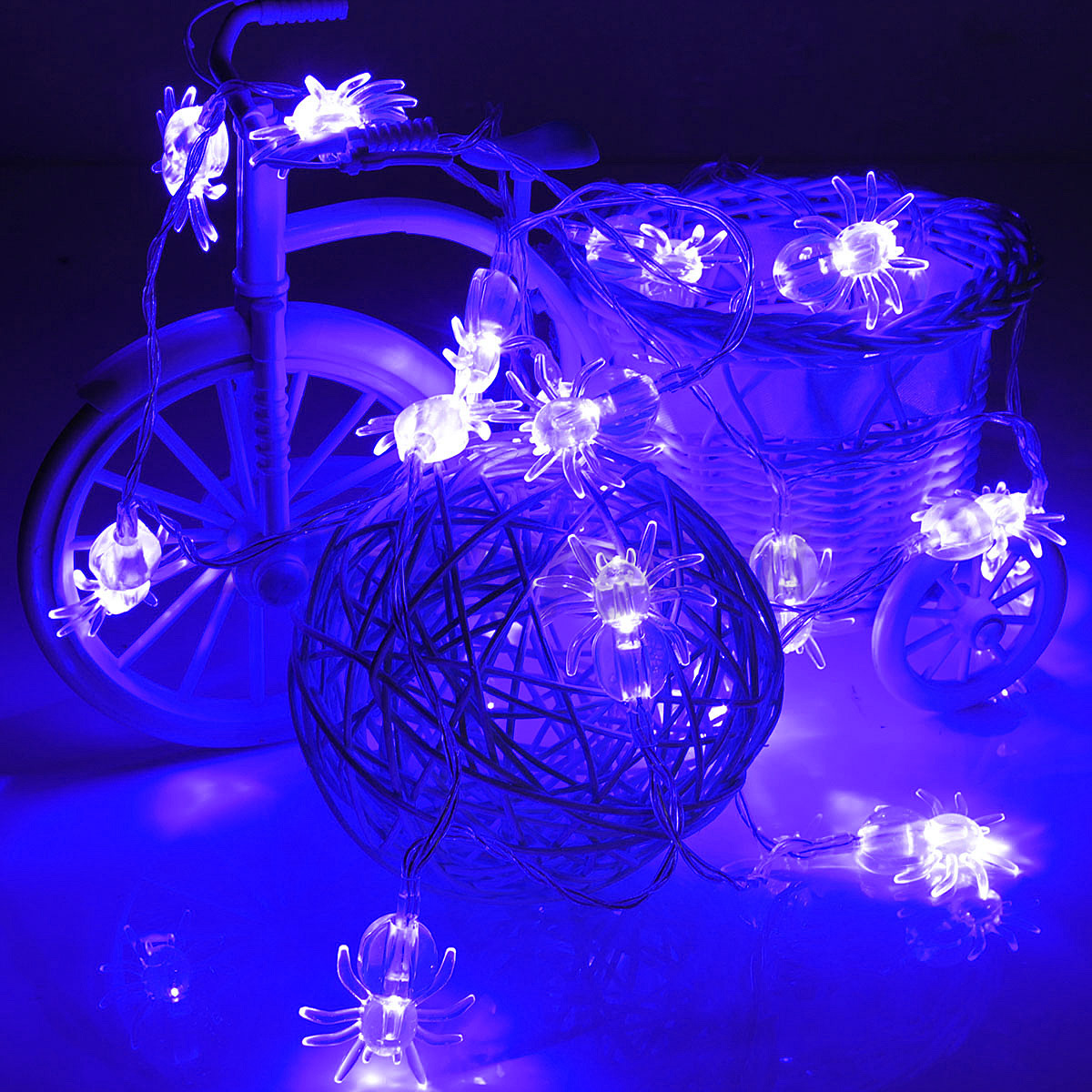 Halloween Purple Led String Lights : 20 LED Spiders String Fairy Lights Lamps Halloween Xmas Party Home Decor Purple eBay