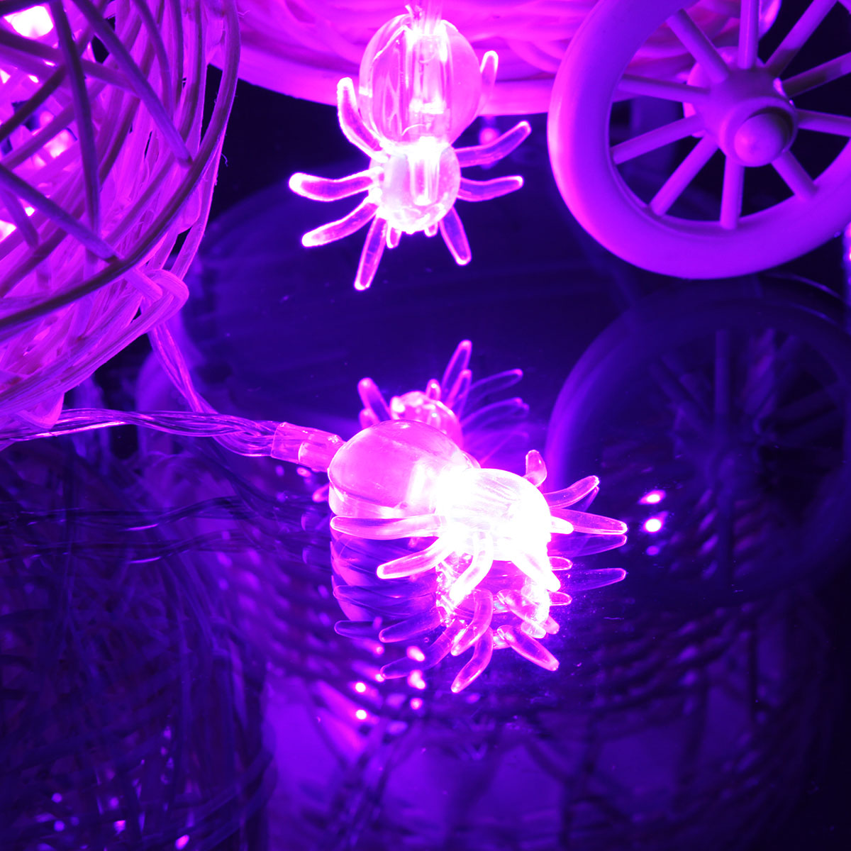 20 LED Halloween Party Spooky Spider Fairy Party String Light Lamp Battery Decor eBay