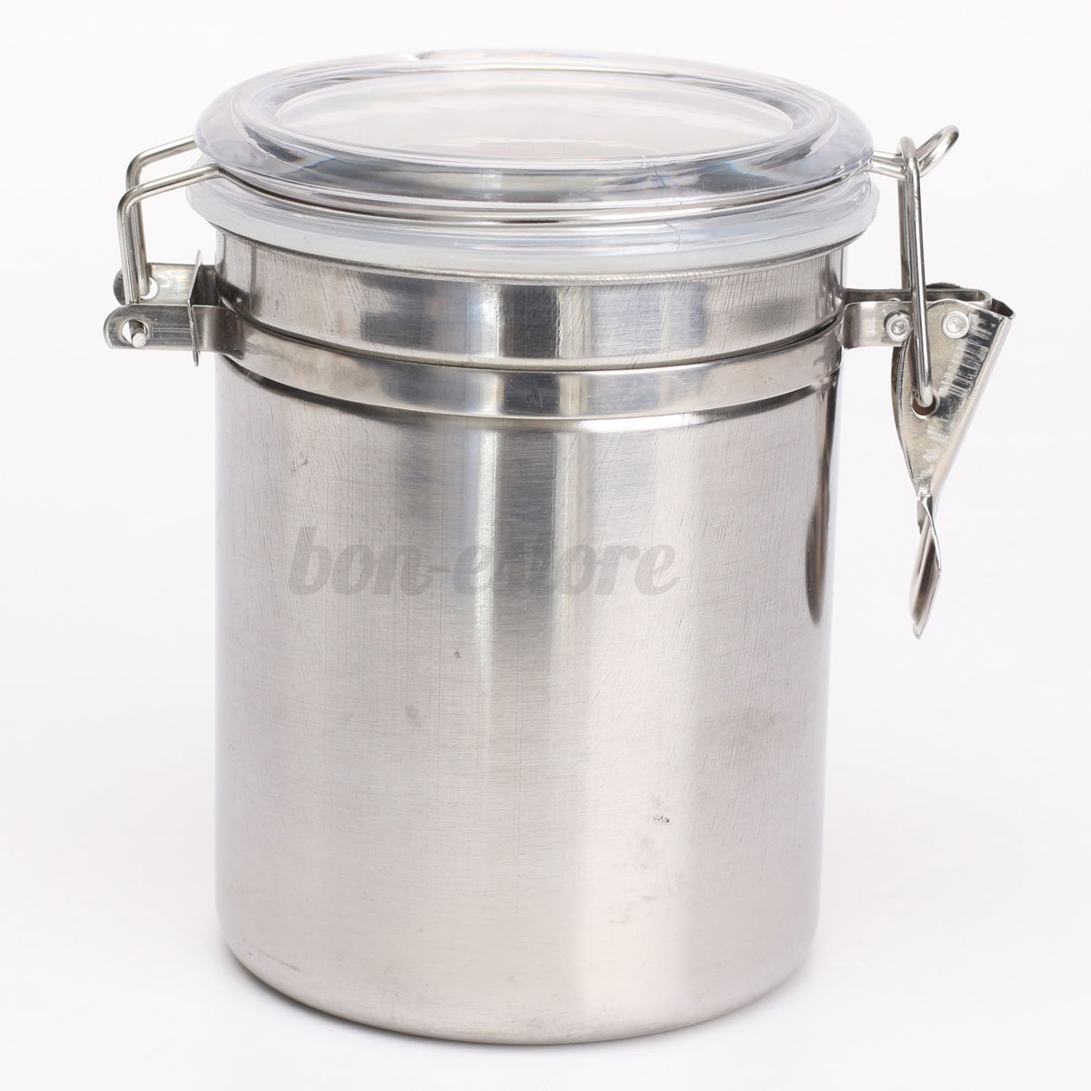 stainless steel airtight sealed canister coffee flour sugar tea container holder ebay. Black Bedroom Furniture Sets. Home Design Ideas