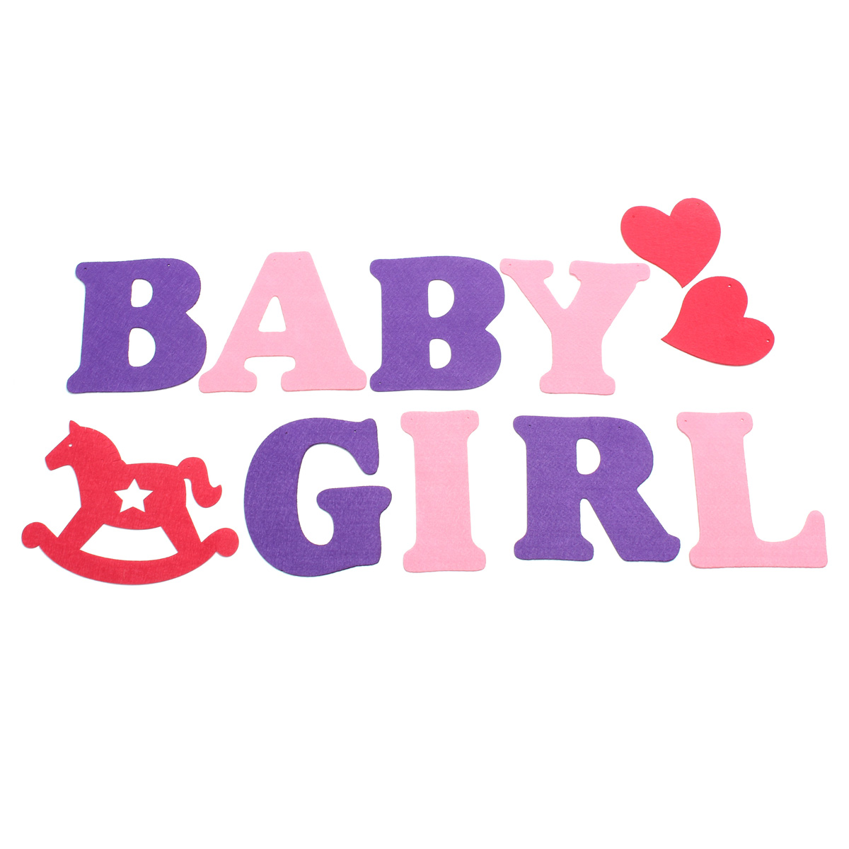 Baby Shower Girl Boy Letters Birthday Party Banner Bunting
