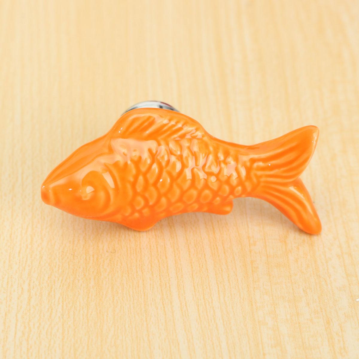 Retro fish ceramic door knob children room cupboard for Fish drawer pulls