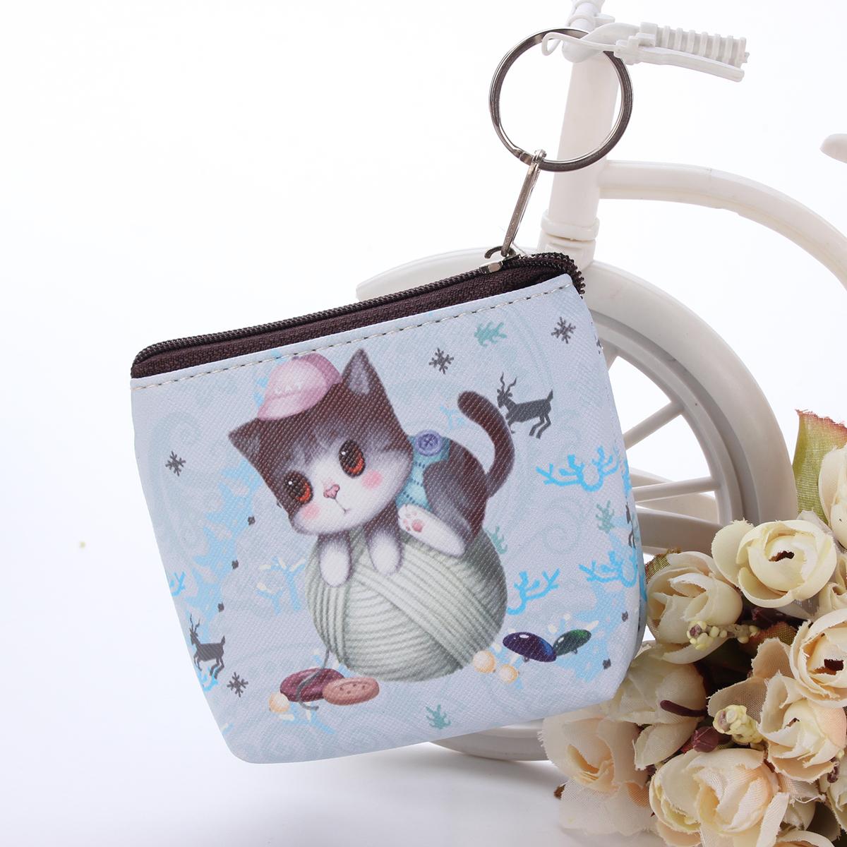 pochette cuir mignon portefeuille porte monnaie poche cl zipp sac main bourse ebay. Black Bedroom Furniture Sets. Home Design Ideas