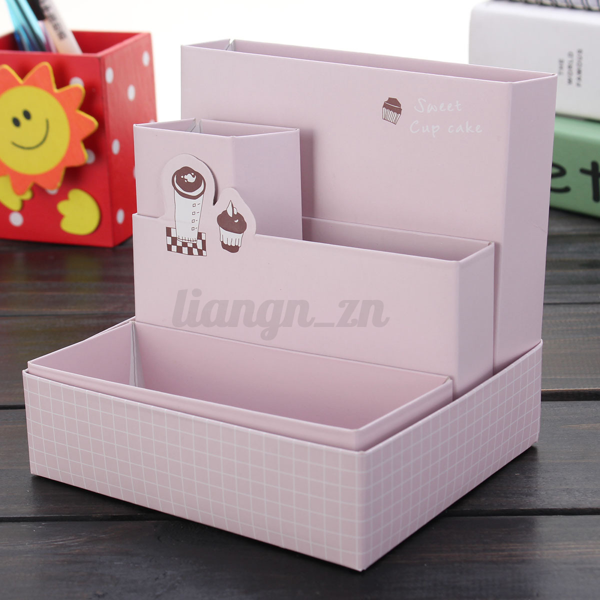 bo te de rangement papier bureau organisateur maquillage cosm tique pot crayon ebay. Black Bedroom Furniture Sets. Home Design Ideas