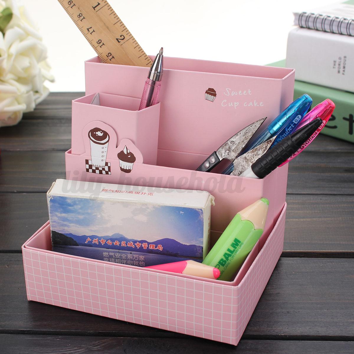 schreibtisch stiftehalter papier aufbewahrungsbox verfassung kosmetik organizer ebay. Black Bedroom Furniture Sets. Home Design Ideas