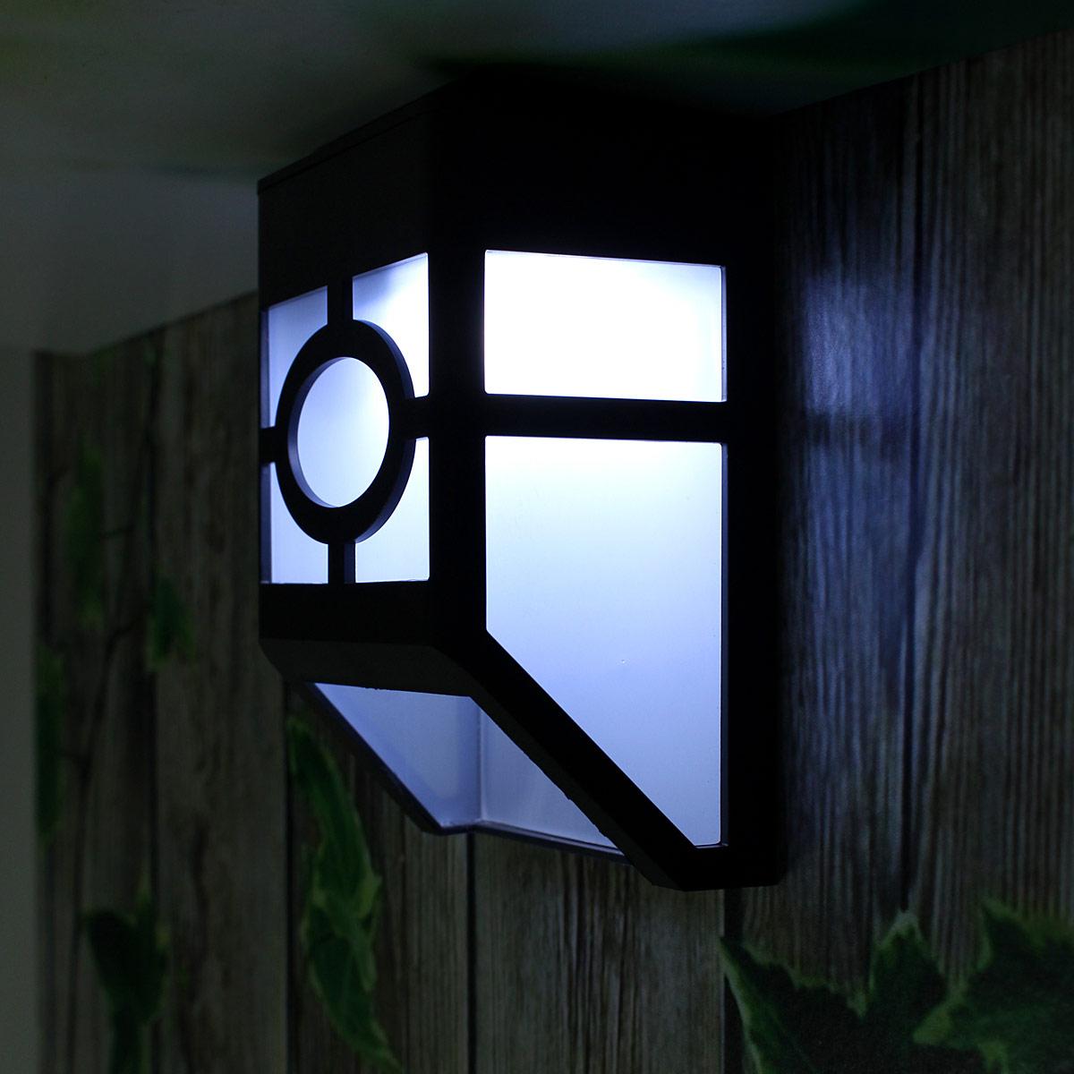 2 led solaire lampe murale eclairage lumi re pour maison for Lumiere a led pour exterieur