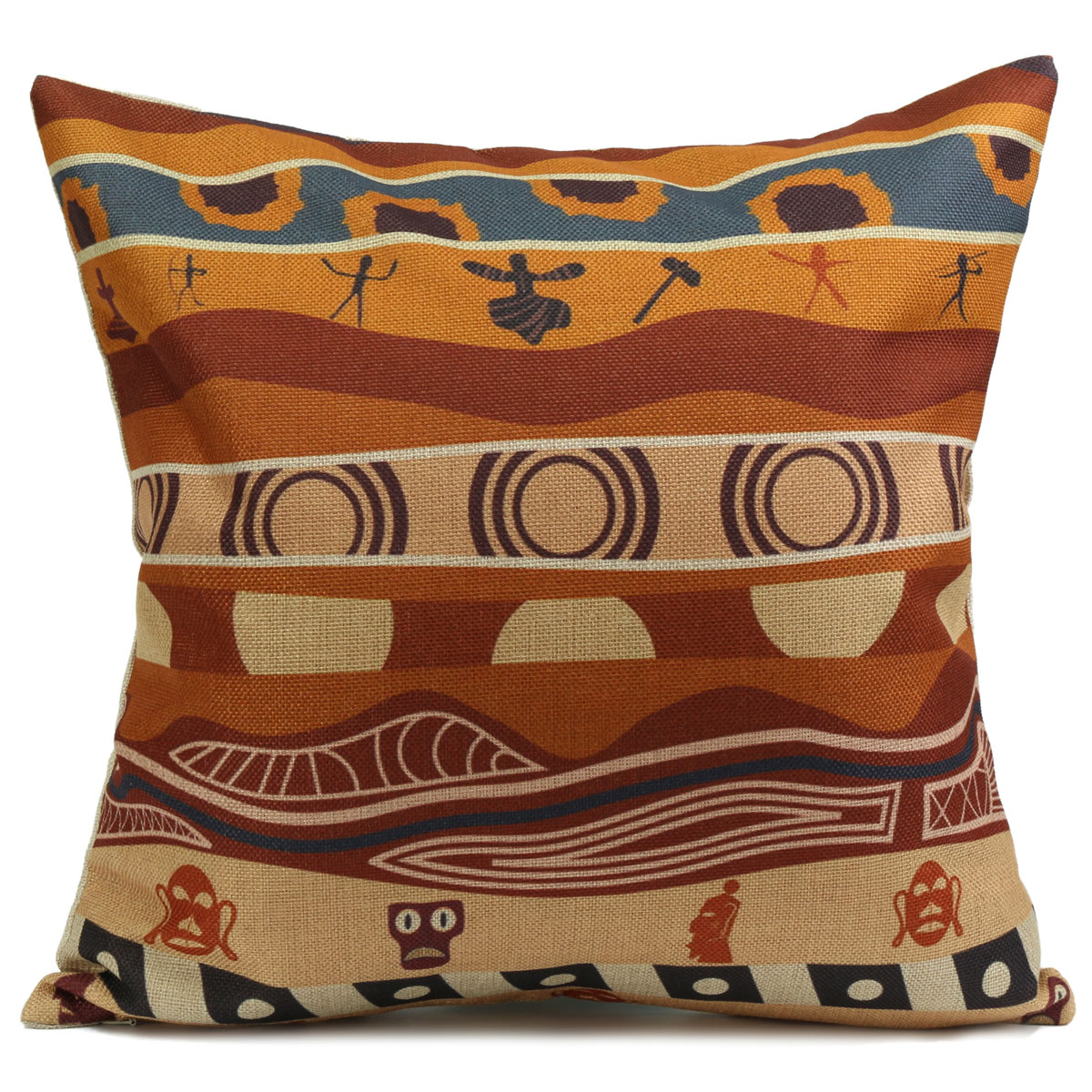 New Vintage African Styler Sofa Throw Pillow Case Cushion Cover Home Decor 17""