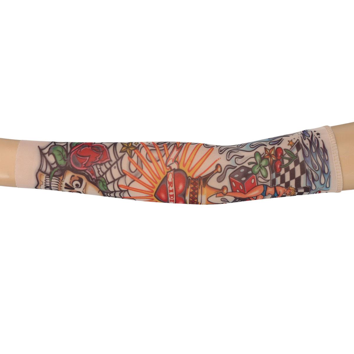 Nylon kids temporary tattoo sleeves arm stockings tatoo for Temporary arm tattoos