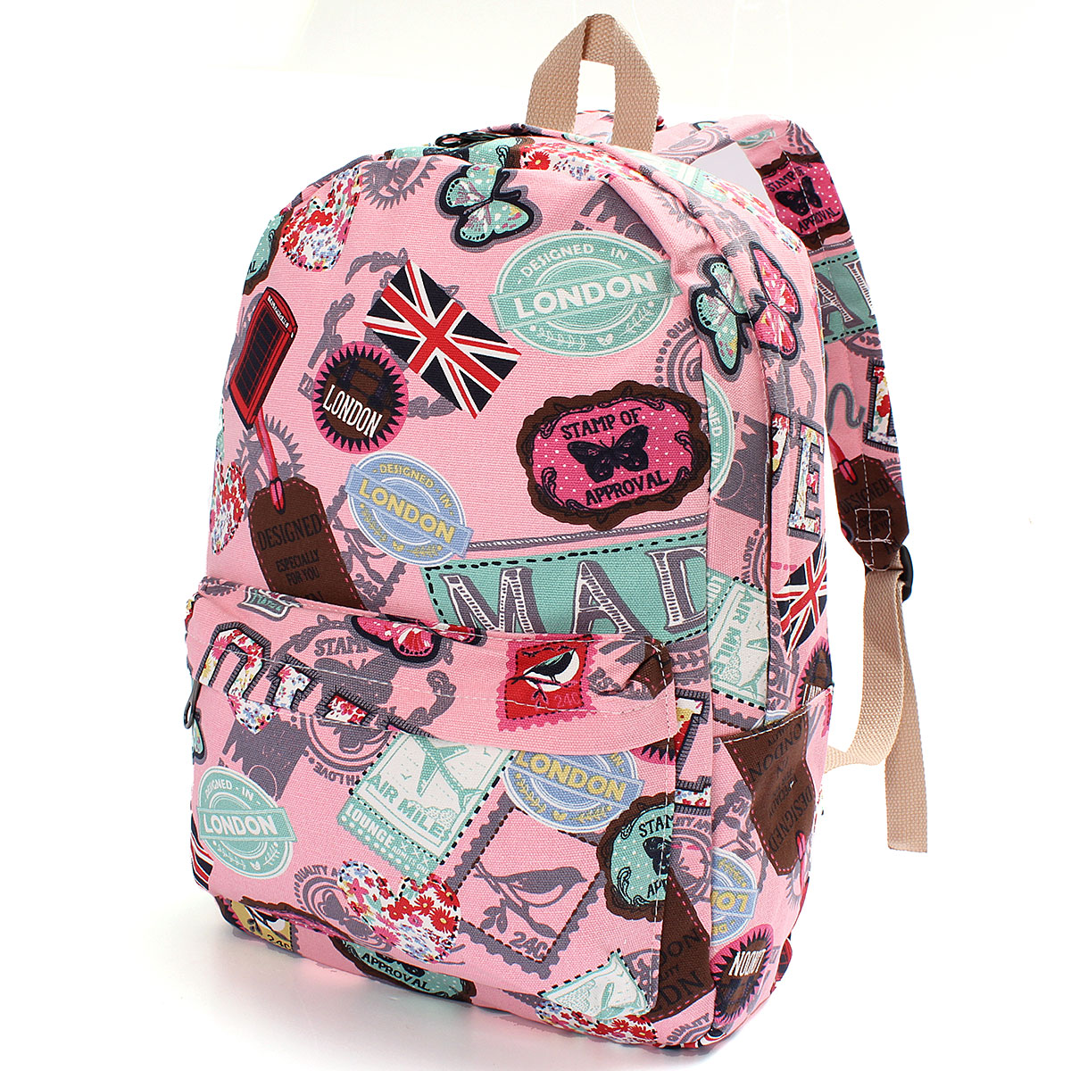 Women Girl Canvas Backpack Rucksack Travel Satchel Shoulder School Bag Bookbag
